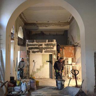 """Ristorante """"Pipero Roma"""" – Corso Vittorio Emanuele (Progettazione e Ristrutturazione) – foto cantiere"""