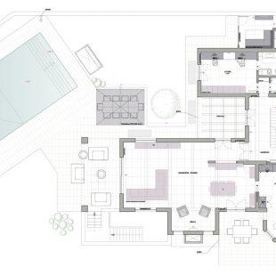 Villa Olgiata, Roma – (Progettazione e Ristrutturazione) Pianta