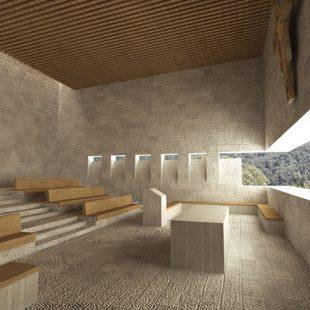 Chiesa Cava di Granito Calangianus (OT) (Progettazione) – Render interno