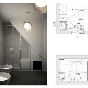 Villa Olgiata, Roma – (Progettazione e Ristrutturazione) Render Pianta Bagno (padronale)