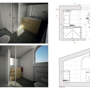 Villa Olgiata, Roma – (Progettazione e Ristrutturazione) Render Pianta Bagno (Sofia)
