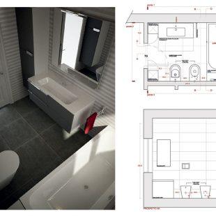 Villa Olgiata, Roma – (Progettazione e Ristrutturazione) Render Pianta Bagno (studio)