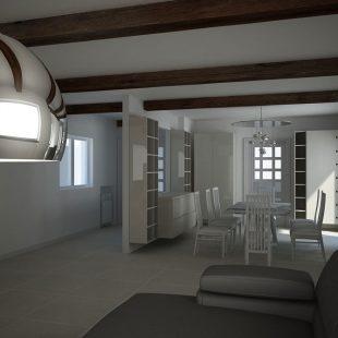 Villa Olgiata, Roma – (Progettazione e Ristrutturazione) Render Soggiorno
