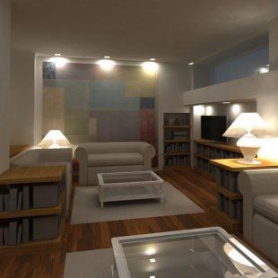 Albergo Carlo Felice, Sassari (Progettazione) Sala TV