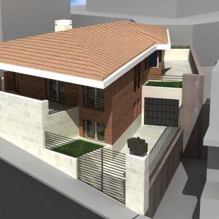 Villa, Nuoro (NU) (Progettazione) – Rendering Nuova Costruzione