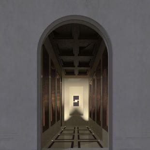 """Ristorante """"Pipero Roma"""" – Corso Vittorio Emanuele (Progettazione e Ristrutturazione) – render ingresso"""